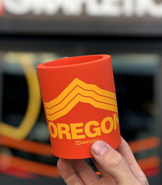 Oregon foam koozie inspired by Mt. Hood