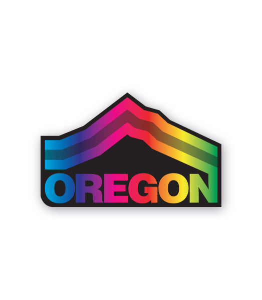 Oregon Mt. Hood Pride Sticker by Grafletics