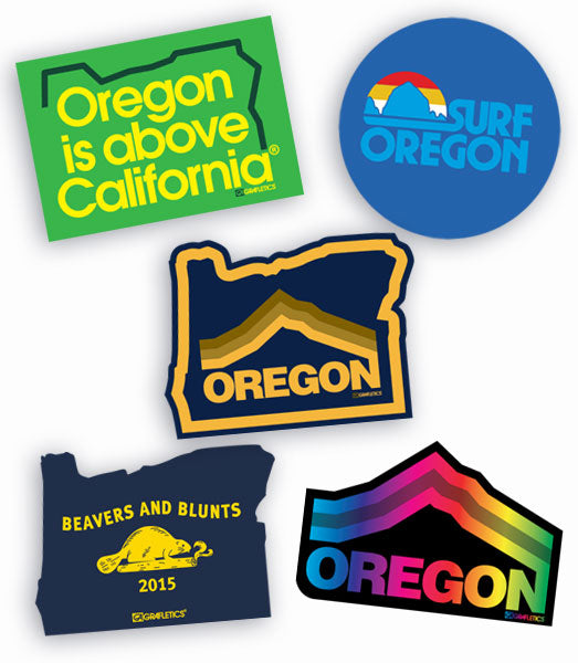 Oregon Sticker Pack by Grafletics