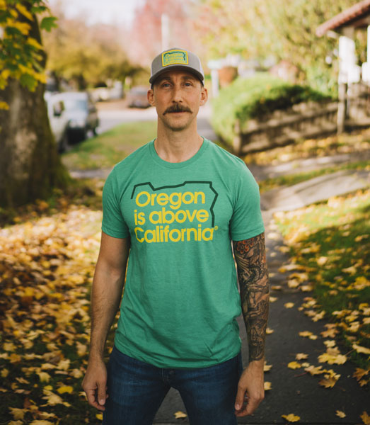 Oregon is Above California T-Shirt