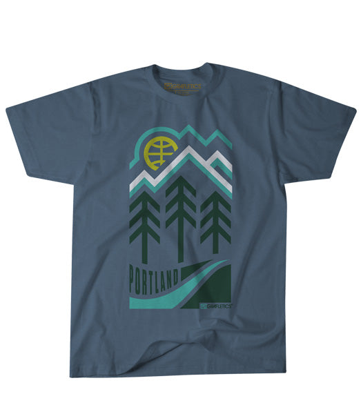 Portland Oregon 3 Trees Tee by Grafletics