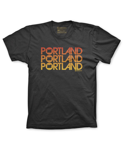 Cool T-Shirts in Portland, Portland Triple Tee by Grafletics