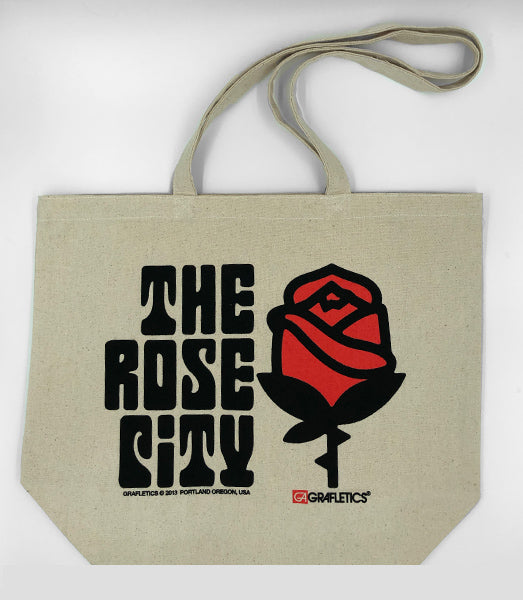 Portland Rose City Tote Bag by Grafletics