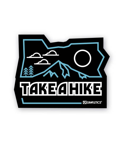 Take A Hike Oregon Sticker