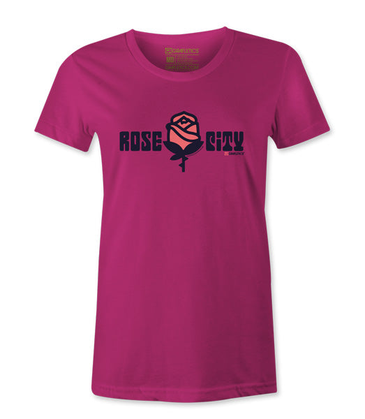 Women's Portland Rose City T-shirt by Grafletics