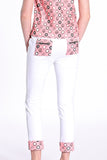 Daisy Chain Cropped White Pants