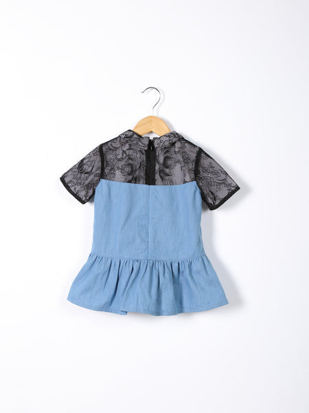 Love Bug Lace & Denim Top
