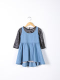 Love Bug Lace & Denim Flared Dress