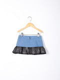 Love Bug Lace & Denim Flared Skirt
