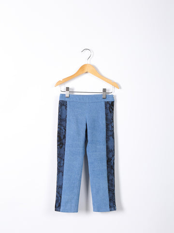 Love Bug Lace & Denim Cropped Pants