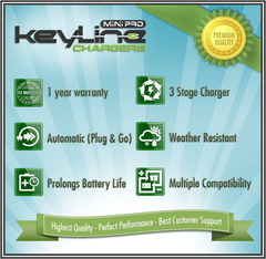 KeyLine Chargers - 6V/12V Auto-Switching Smart Battery Charger w Float Voltage - 3 Stage Trickle Charger for SLA Batteries, Wildgame Feeders & More! -  - 7