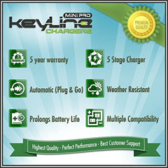 KeyLine Chargers - 6V Or 12V 500mAh Auto-Switching Sealed Lead Acid Battery Wall Trickle Charger -  - 6