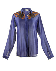 The Leather Appliqué Shirt