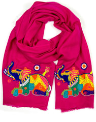 The Contemporary Elephant Motif Scarf
