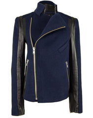 The Leather Sleeve Wool Jacket