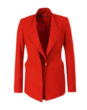 The Asymmetric Collar Buttoned Blazer