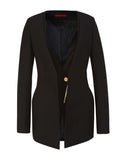 The Metallic Accent Double Lapel Blazer