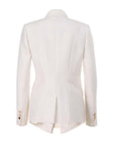 The Metallic Accent Stand Up Collar Blazer