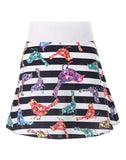 The Spongy Flare Skirt with Printed Lining