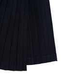 The Pleated High Slit Skirt