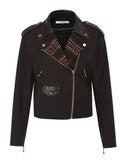 The Lace and Leather Combi Jacket