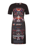 The Printed Short Sleeve Lace Detail Dress