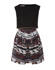 The Printed Lace Overlap Dress