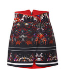 The Printed Overlap Skirt