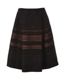 The Lace Trim Flare Skirt