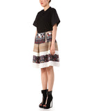 The Print and Lace Combi Flare Skirt
