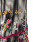 The Embroidered Check Maxi Dress