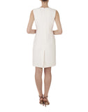 The Sleeveless V-Neck Paneled Dress