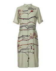 The Branches Print Shirt Dress