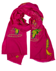 The Parrot Motif Scarf