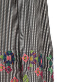 The Wide Leg Embroidered Check Pants