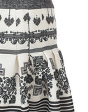 The Printed Pleated Mini