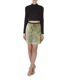 The Pleated Print Skirt