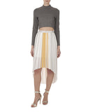 The Pleated High-Low Skirt