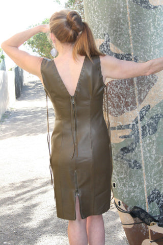 Leather Sheath Dress