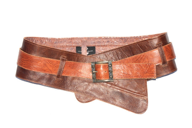 Double Wide Reversible Leather Belt