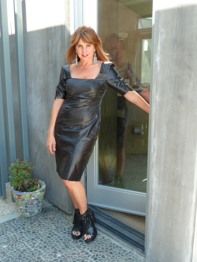 Sexy Little Black Leather Dress