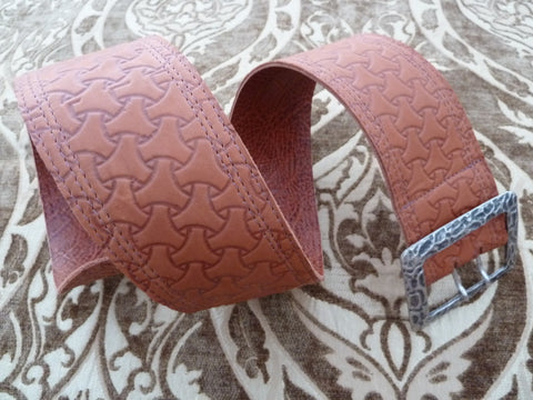 "2.75"" Contour Printed Leather triple-stitched Belt"