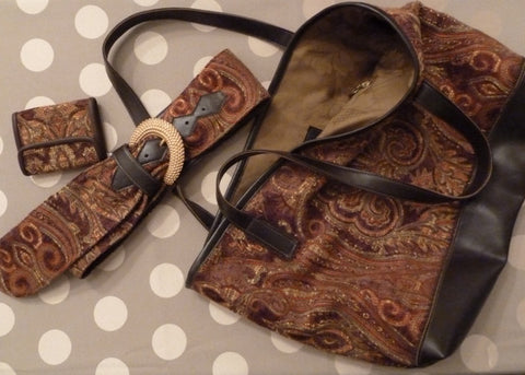 """No-Animal"" Leather and Tapestry Purses Bags Wallets Belts and Phone Pouches"
