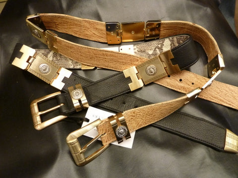 Unique Unisex Belt with Italian Romanesque Decorative Metal