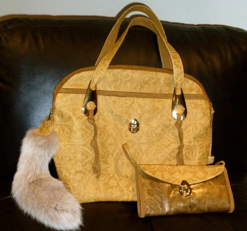 Golden Large Handbag