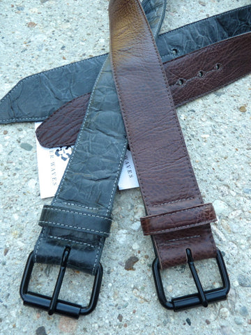 "2"" Wide Cut-Edge Leather Belt"