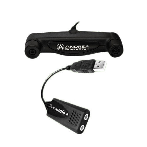 USB-SA Andrea External USB Soundcard / SuperBeam Microphone Bundle
