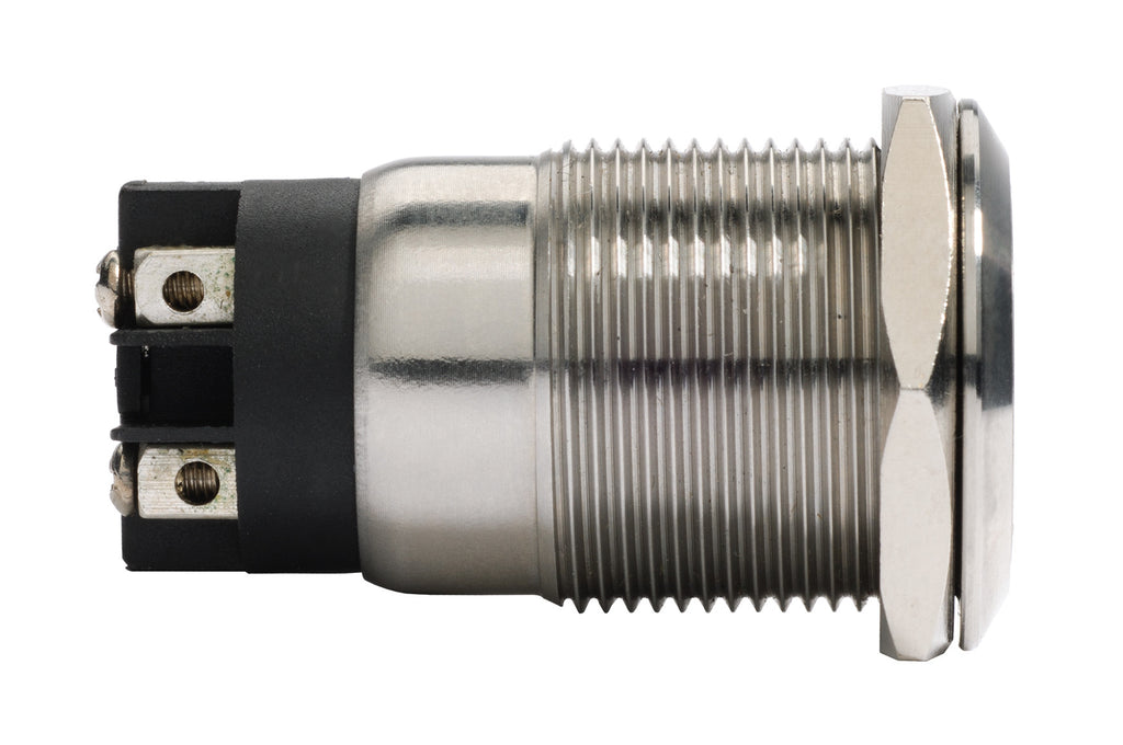 Silver Stainless Steel Metal Momentary Pushbutton Switch 22mm