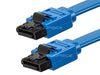 Monoprice 108782 18-Inch SATA 6Gbps Cable with Locking Latch, Blue, 10 Pack