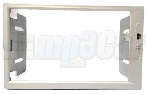 New Silver Double Din ABS Frame For Lilliput 629 or EBY-701